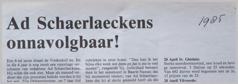 Ad Schaerlaeckens untouchable
