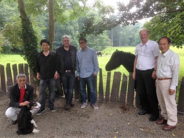 From left to right: Mr Ogasawara, Mr Uchiyama, Peter, Tadashi Shimamura, Jan Hermans and Mr Sirai.